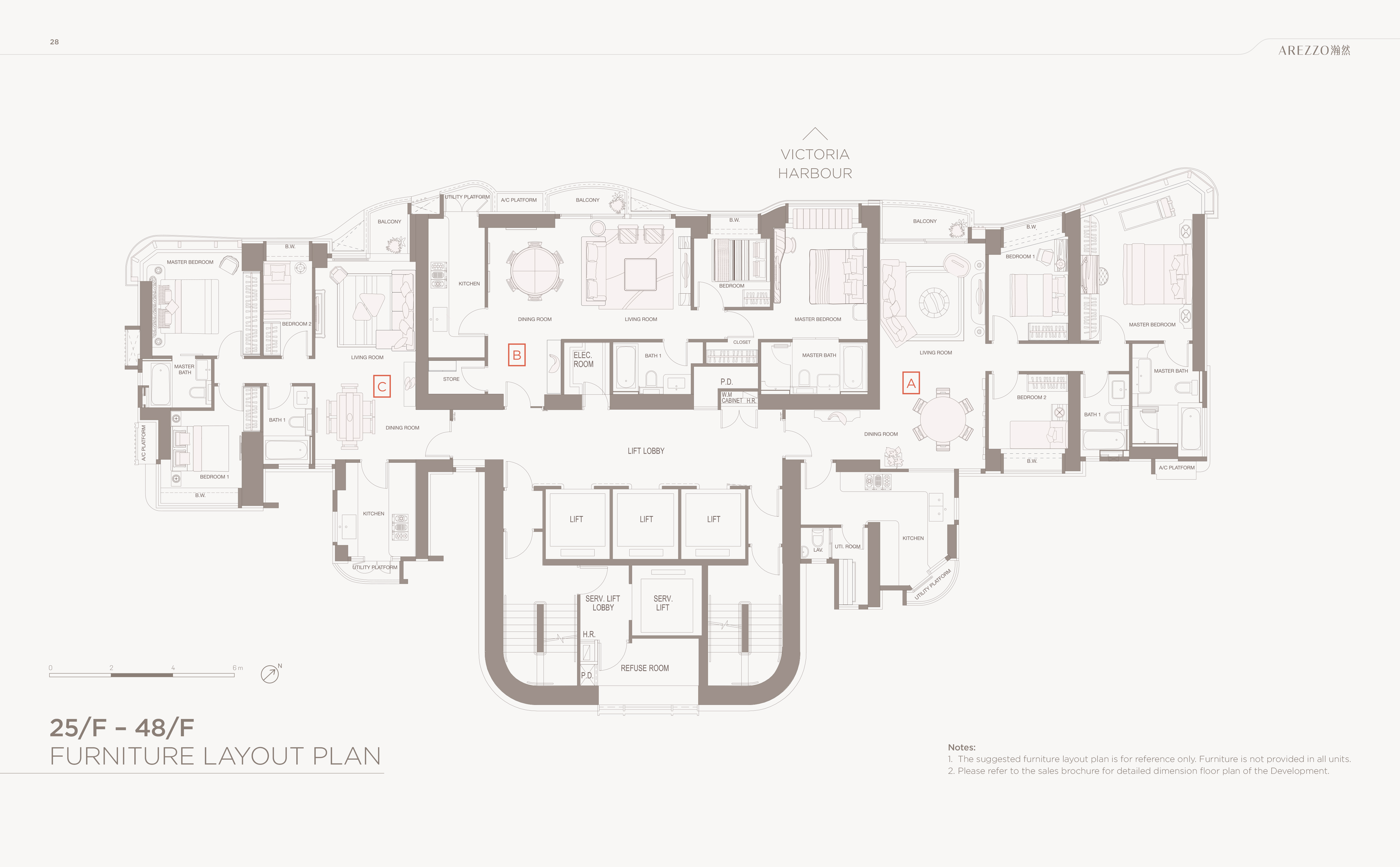 Arezzo 33 seymour road for Furniture layout plan